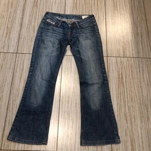 Diesel bebel women's jeans low rise 27x28.5